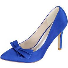Saténová mašle s podpatky podpatky princezna boty svatební boty