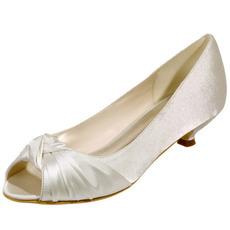 Svatební boty rybí ústa svatební boty saténové párty boty