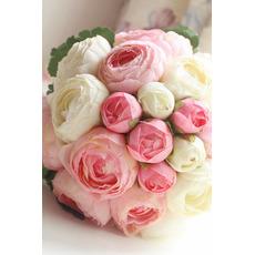 Diamantová perla jednoduchá atmosférická ruční kytice květin čestná matrona
