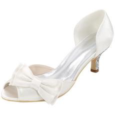 Svatební boty plus velikost jedné boty luk saténové sandály