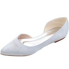 Špičaté boty na saténové ploché boty na ples pro příležitostné dámské boty