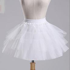 Svatba Petticoat Ballet sukně Krátká dvojitá příze Elastický pas