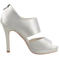 Sexy saténová otevřená špička na vysokém podpatku módní společenské boty
