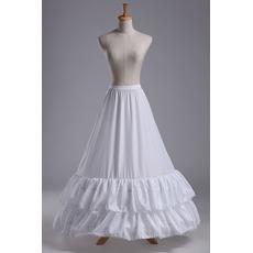 Svatební petticoat Lace trimming Svatební šaty Dlouhá polyesterová taffeta