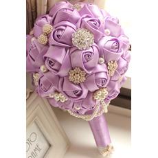 High end vlastní fialová téma svatební nevěsta kytice
