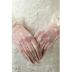 Svatební rukavice Požadovaná průsvitná krátká dekorace Slonovina