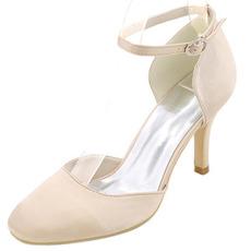 Svatební boty na podpatku kolem špičky boty na podpatku