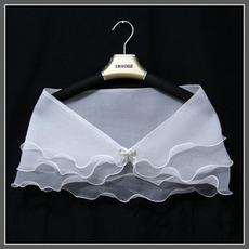 Svatební šátek letní bez rukávů Abstraktní venkovní křišťálový květinový pin