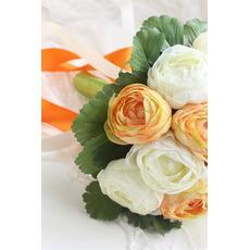 Bílá pivoňka korejská nevěsty ruční huashan camellia simulace červená svatební kytice