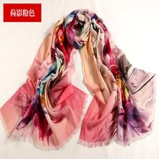 Dlouhé prodloužení krajkové vlny Mladé ženy květy šátek