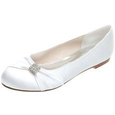 Ploché boty saténové mateřské svatební boty plus velké ploché boty