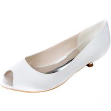Svatební ryby ústa boty nízký podpatek boty těhotné ženy svatební boty