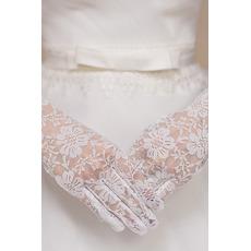 Svatební rukavice krátké bílé věčné multifunkční krajka