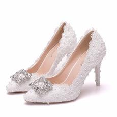 Drahokamu jediné boty svatební boty krajkové party boty