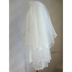 Svatební závoj třívrstvý načechraný svatební perlový závoj svatební krátký závoj