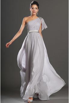Středně vzadu Jablko Elegantní Asymetrický krk A-Čára Večerní šaty