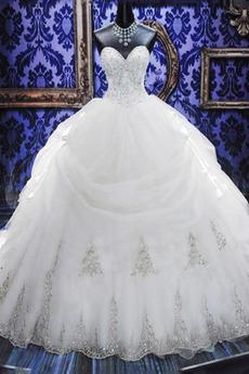 Zašněrovat boty Srdíčko Tyl Kostel Katedrála vlak Svatební šaty