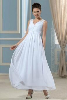 Mateřství Léto Jednoduchý Oslava Přirozeného pasu Večerní šaty