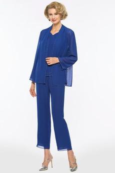 Elegantní S bundou Délka kotník Dlouhé rukávy Přirozeného pasu Matky šaty