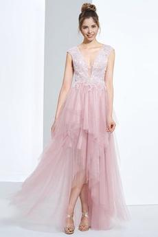 Elegantní Krajka Asymetrické hostina Asymetrické Promové šaty