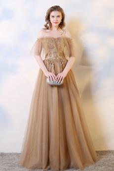Zašněrovat boty Rosný rameno Vícevrstvý drahokamy živůtek Promové šaty