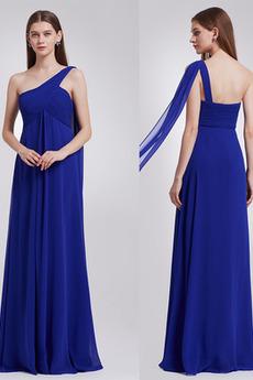 Plisovaný S hlubokým výstřihem Jednoduchý Říše pasu Večerní šaty