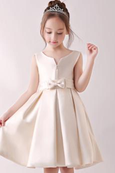 A-Čára Rouška Nůžky Kolena délka Přirozeného pasu Květ dívka šaty