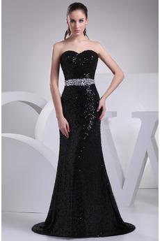 Bezzadu Krystal Délka podlahy Klasický Korálkový pás Večerní šaty