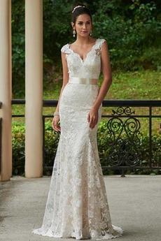 Krajka Přirozeného pasu Tenká Podzim Elegantní Svatební šaty