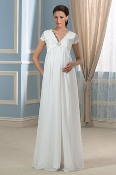 Krajka Podzim Vysoká zahrnuty Šik Zamést vlak Krátké rukávy Svatební šaty