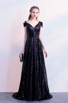 A-Čára Rosný rameno Zip Formální Krátký rukáv Jaro Promové šaty