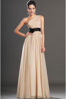e3cf7f485c3 Přírodní pas Krystal Elegantní Šampaňské Bez rukávů Společenské šaty