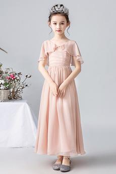 Bezzadu Kotníky A-Čára Krátké rukávy Léto Květinové dívky šaty