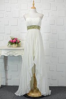 Bez ramínek Asymetrické Střední Šifón Asymetrické Společenské šaty
