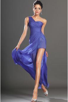 Léto Skládaný živůtek Trojúhelník Zip nahoru Plášť Promové šaty