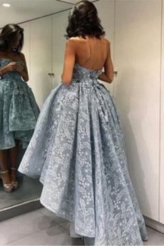 Bez ramínek Asymetrické Bez rukávů Střední Krajka Promové šaty