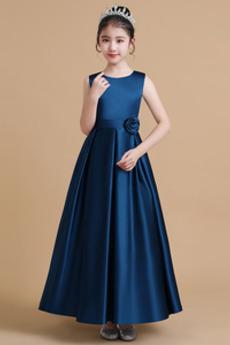 Tlačítka Střední Klenot Formální Léto Přírodní pas Květinové dívky šaty