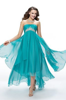 Bezzadu Skládaný živůtek Elegantní Oslava Asymetrické Promové šaty