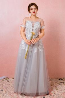 Šperk Kotníky Elegantní Iluze Oslava Krátký rukáv Družička Šaty