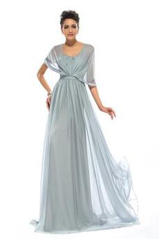 Dlouhý Přikrýt Přírodní pas Jednoduchý Skládaný živůtek Večerní šaty