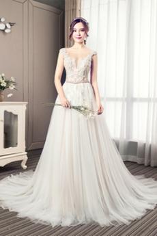 Nášivky Korálkový pás Elegantní Kostel Přírodní pas Svatební šaty