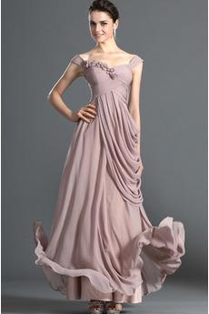 Skládaný živůtek Přirozeného pasu Víčko Elegantní Večerní šaty