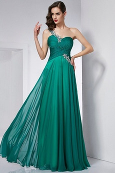 Banket Délka podlahy Šifón Přírodní pas Léto Elegantní Promové šaty