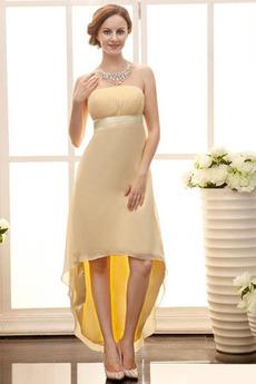 Asymetrické Skládaný živůtek Zahrada Zip nahoru Večerní šaty
