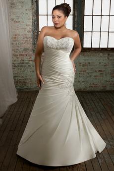 Mořská panna Straně přehozený Kostel Bez rukávů Svatební šaty