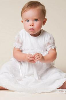 Obřad lucerna Délka podlahy Přírodní pas Princezna Křest šaty