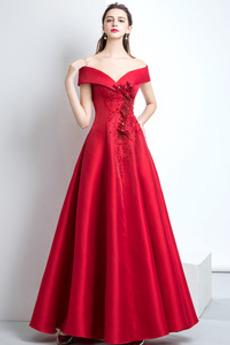 Bez rukávů Délka podlahy Přirozeného pasu Hluboký výstřih do V Promové šaty