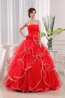 Bezzadu Elegantní Organza A-Čára Délka podlahy Klesl pas Promové šaty