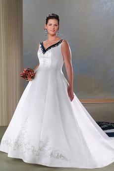 Středně vzadu Hluboký výstřih do V Jaro Světle šedá Svatební šaty