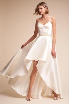 Střední Korálkový pás Asymetrické Přirozeného pasu Svatební šaty